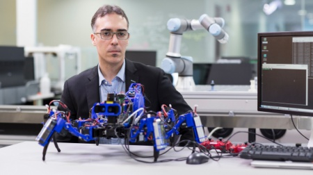Siemens has an army of spider robots that work as a team to complete tasks